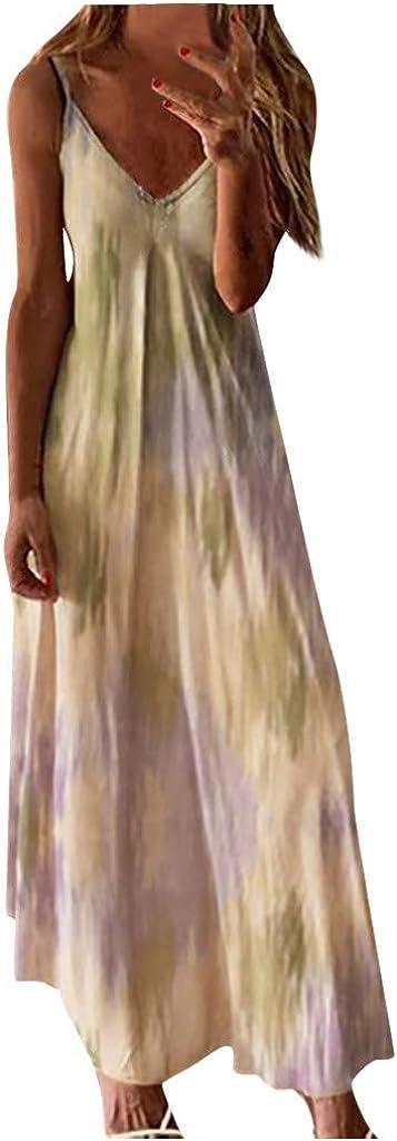 Long Beach Mall Women's Summer Casual Tie-dye Excellent Bohemian Spaghetti Printed Floral