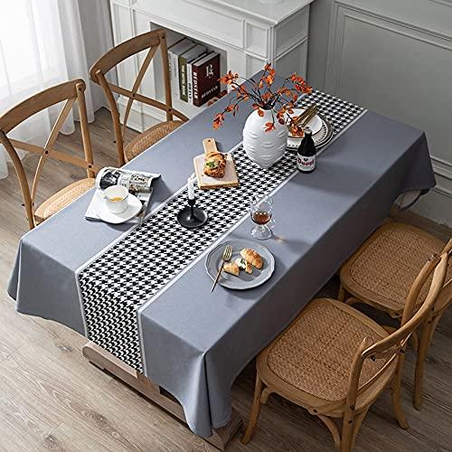 XXDD Mantel con Estampado de Pata de Gallo, Muebles de Estilo Europeo, Cubierta a Prueba de Polvo, Mesa de Comedor de té, Escritorio, decoración de Picnic, A4 150x210cm