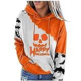 Sweatshirt Pullover Fleece Drop Shoulder Striped Hoodie Maternity Graphic Tanks Womens Shirts Graphic tees Graphic Bikini(D6-Halloween-White,XXL)