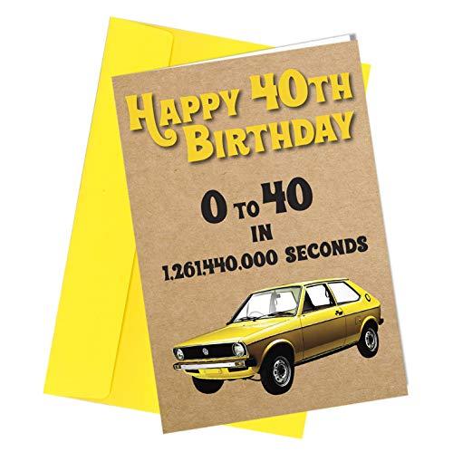 40th Birthday Card Dad / Brother / Uncle / Grandad / Friend Greetings Card...