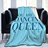 Mamma Mia - You are The Dancing Queen Ultra-Soft Micro Fleece Throw Blankets for Bed Cozy Lightweight Peach Decorative Blankets for Couch 50'X40'