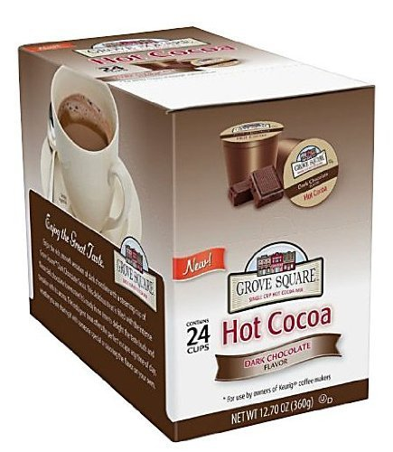 Grove Square Hot Cocoa Cups, Dark Chocolate, Single Serve Cup for Keurig K-Cup Brewers, 24-Count (Pack of 2) FlavorName: Dark Chocolate Size: 48-Count Home & Kitchen