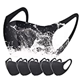 5 Pack Anti Pollution Protective Face Shield Face Cover for Women & Men - Black