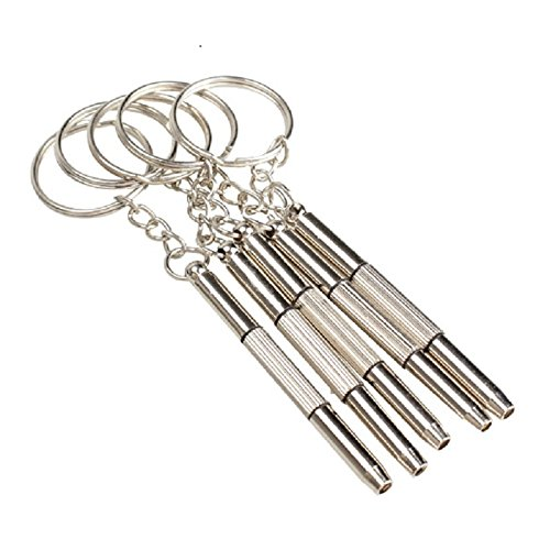 Keychain eyeglass screwdriver, screwdriver key,5PCS/Set 3 in 1 Aluminum Steel Eyeglass Screwdriver Sunglass Watch Repair Kit With Keychain Portable Screwdriver Hand Tools, eyeglass repair