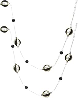 Mark Roberts Black White Glass Ball Ornaments Garland - 72 inches