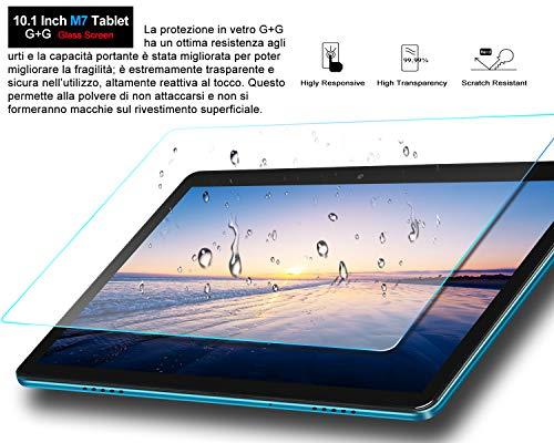 MEBERRY Tablet 10 Pollici Ultimo Android 10 OS: Octa-core 1.6 GHz Tablets PC 4GB + 64GB, Espansione SD da 128 GB | Doppia Fotocamera(5MP+8MP) | 8000mAh | WiFi | GPS| Google GMS, Blu (Versione WIFI)