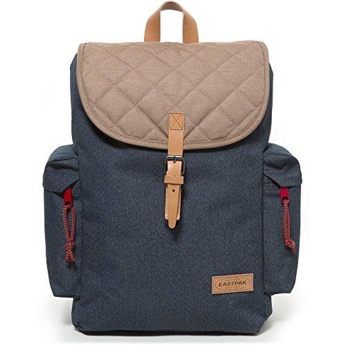Eastpak Austin Polyester Rucksack Backpacks (Blue, Brown, Polyester, blue, brown white, 38.1cm (15'), Side, Conventional Buckle)