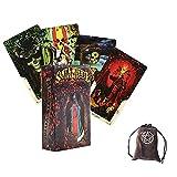 Santa Muerte Tarot Oracle Tarjetas con Bolsa De Terciopelo,Santa Muerte Tarot Oracle Cards