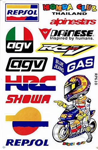 by soljo Logo degli Sponsor Corsa della Decalcomania Tuning Racing Dimensioni Foglio: 27 x 18 cm per Auto o Moto ATV Motocross Supercross Skateboard Motocicletta Auto Bicicletta