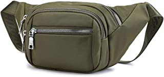 Chest Shoulder Bag for Running Travel Sports, Waist Pack Bag Fanny Pack for Men and Women, Hip Bum Bag with Adjustable Strap Army Green