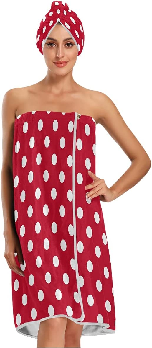 Raleigh Mall xigua Vintage Polka Dots Louisville-Jefferson County Mall White and Can Red Women Be Microfiber W