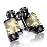 FREE SOLDIER Bird Watching Binoculars for Adults - BAK4 Prism HD Classic Crocodile Pattern 8x30 Binoculars for Hunting Sports Wildlife Observation Travel Concerts, CAMO