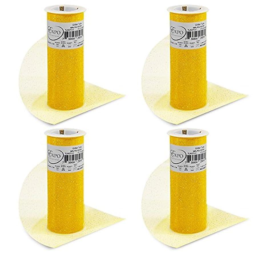 Expo International TL2422YLG-4 Glitter Tulle Spool (4 Pack), 6