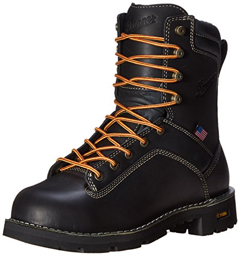 Danner Men's Quarry USA 8-Inch AT Work Boot,Black,9 D US