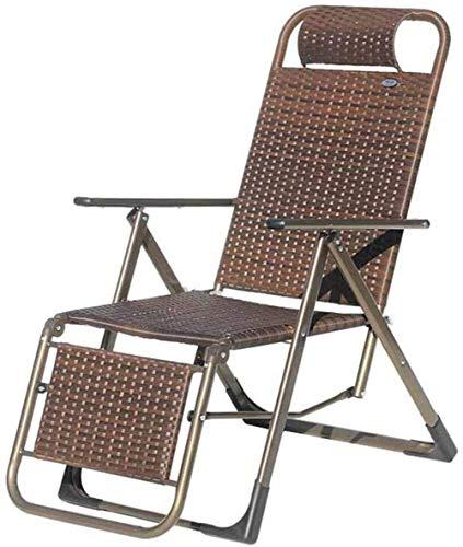 FACAZ Lightweight Durable Folding Chair Best Choice Product Zero Gravity Chair Cover, New Brown Outdoor Garden Beach Terrace Rest Chair