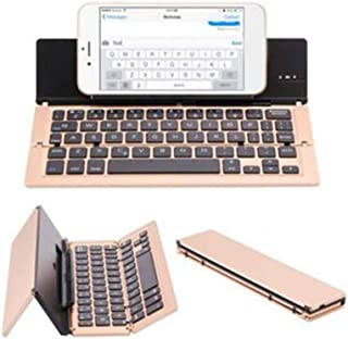 Jnvny Wireless Keyboard Bluetooth Foldable Keyboard, with Stand, Aluminum Alloy USB Charging, for Windows, Android, iOS, M...