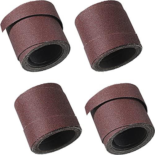 Maitys 4 Rolls 120 Grit Sandpaper Wraps 16 Inch Sandpaper Wrapping Papers Drum Sander Sandpaper for 16-32 Sanders