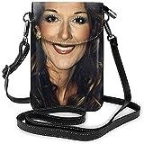 Trista Bauer Celine Dion- Monedero para teléfono Celine Dion- Impresión DIY Cuero de PU Adecuado para Uso al Aire Libre y Diario 4x12.5x19.2cm