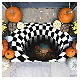 Alfombra estereoscópica de halloween en blanco y negro. ,CLORURO...