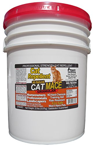 Nature's Mace Cat Mace 22lb / Covers 14,000 Sq. Ft. / Cat Repellent and Deterrent/Keep Cats Out of Your Lawn and Garden/Safe to use Around Children & Plants