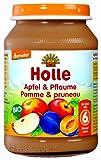 Holle Apfel & Pflaume, 6er Pack (6 x 190 g) - Bio -