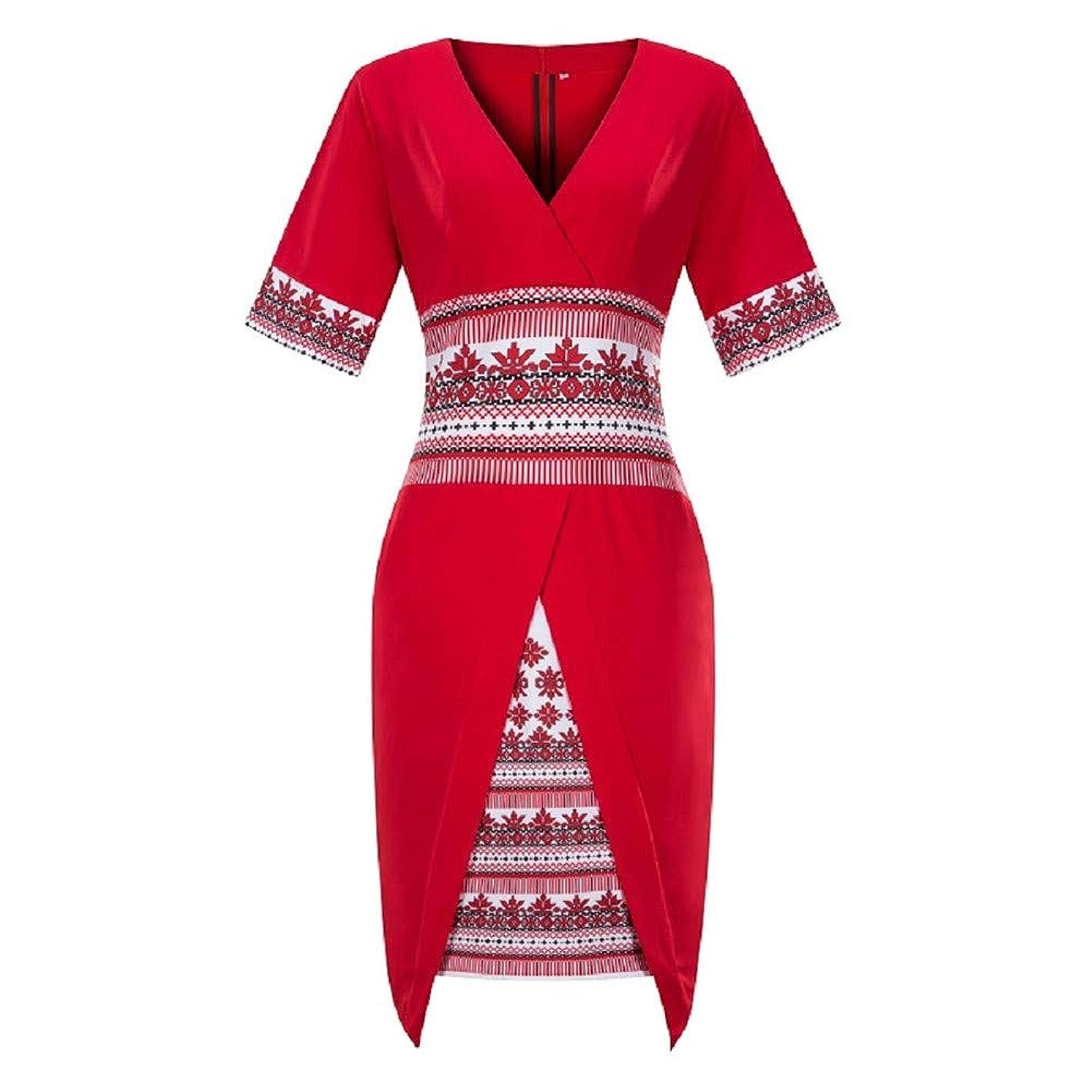 ShinFashion Women Dashiki African Style Patchwork Short Sleeve Midi Dress,XL-6XL skejxozpgdv799
