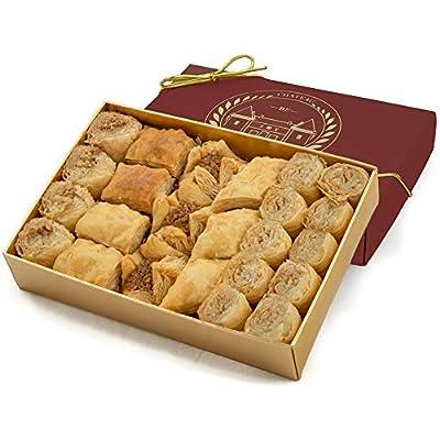 baklava sweet, bitesize, 24 pieces, château de mediterranean, gift box ribbon Baklava Sweet, Bitesize Baklawa, 24 Pieces, Chateau de Mediterranean, Gift Box with Ribbon 300g 51JOx4ony9L