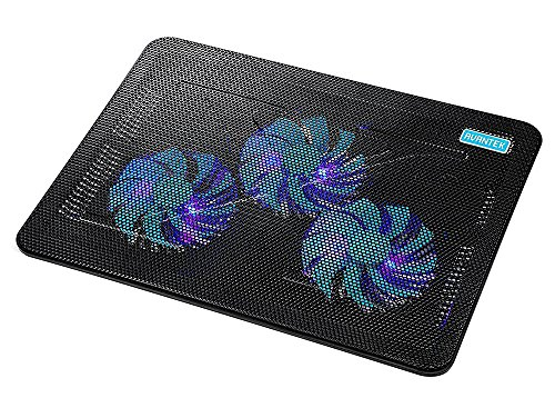 AVANTEK Laptop Cooling Pad with 6 Speed Adjustable Fans, Ultra Slim Notebook Cooler, Quiet Chill Mat for 9-16 Inch Laptops, 2 USB Ports for Data and...