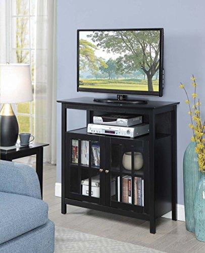 Convenience Concepts Big Sur Highboy TV Stand, Black