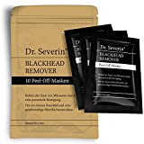 Black mask: Dr. Severin Blackhead Remover Peel-Off Mask. 10-pack. Face mask with activated carbon, against impure skin, face detox, blackheads killer, pore cleansing, reduced pores, anti-aging!