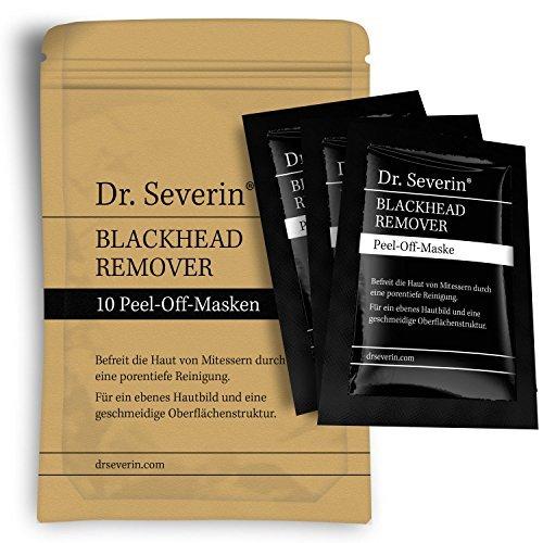 BLACK MASK: Dr. Severin® Blackhead Remover Peel-Off Maske I Aktivkohle Gesichtsmaske I gegen unreine Haut I schwarze Maske I Mitesser-Killer I porentiefe Reinigung,...