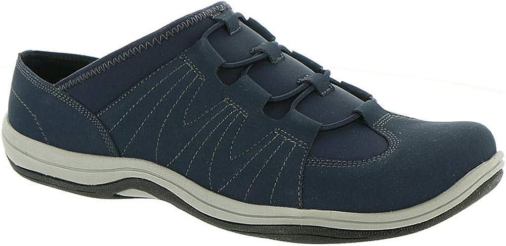Easy Street Womens Roam Leather Slip On Walking Shoes Navy 10 Medium (B,M)
