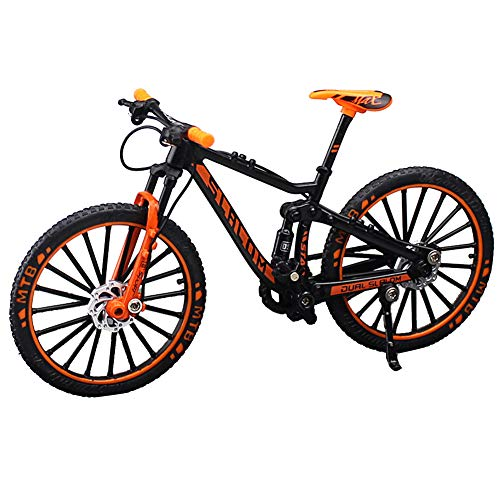 Bestomrogh 1:10 Scale Mini Finger Bikes, Extreme Sports Finger Bicycle Toys, Metal Toy Creative Game Fingertip Movement for Cool Boy Gifts(Orange)
