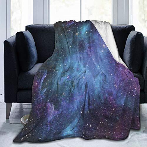 PANILUR Manta de Franela Suave,Estrellas de la Galaxia en el Espacio Planetas astronómicos celestes en el Universo Vía Láctea,Cama de Camping para sofá 153x127cm