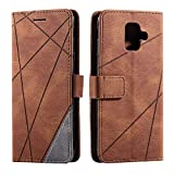 Galaxy A6 2018 Case, SONWO Premium Leather Flip Wallet Case