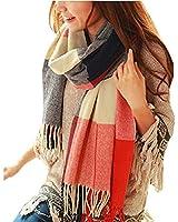 Mocasor Plaid Blanket Scarves for Women, Ladies Fashion Winter Warm Tartan Oversized Long Checked Shawls and Wraps 200x60cm