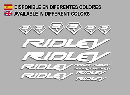 Ecoshirt FH-70YN-11SR Aufkleber Ridley Bike F133 Stickers Aufkleber Decals Autocollants Adesivi, weiß