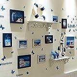 Yxsd Collage de Pared con Marco de Fotos for 10 Fotos, Etiqueta de Pared de decoración de Pared de Sala de Estar y combinación de Marco de Imagen (Color : B)