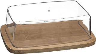 Vita Perfetta - Mantequera con tapa de bambú, perfecta para almuerzo, picnic, cocina