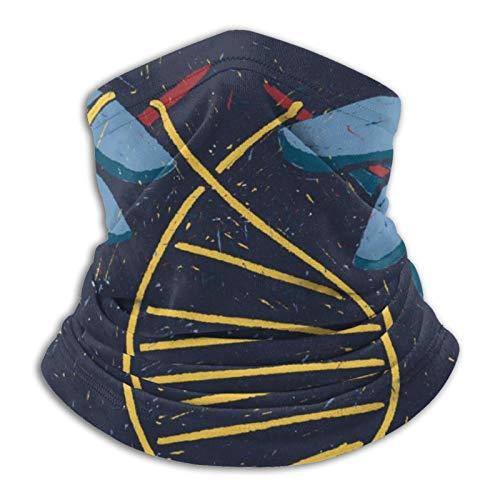 Towel&bag Máscara de tejido unisex cuello cálido bufanda negra