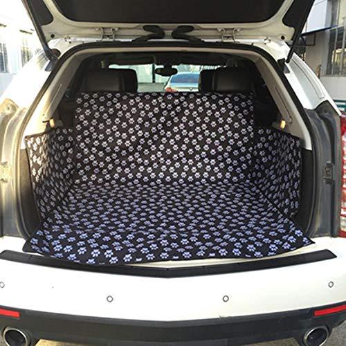 WEDER - Funda para asiento de coche con diseño de huellas de tela para mascotas, Huella negra, 130x150x55cm