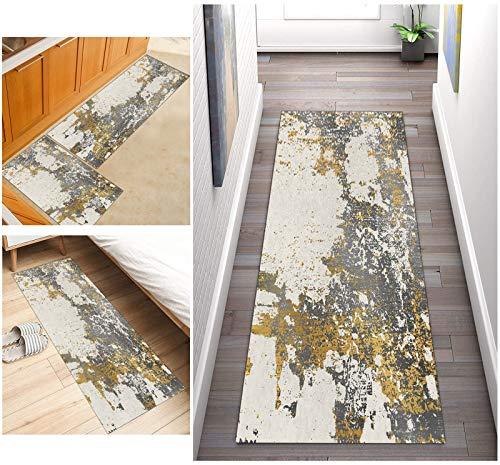 Abstracta Corredor de Alfombra Para Pasillos Antideslizante, Alfombra larga lavable de poliéster adecuada para pasillo, cocina, sala de estar, ancho 60cm/ 70cm/ 80cm/ 90cm/ 100cm ( Size : 50x100cm )