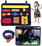 UNGLINGA Busy Board for Toddler Sensory Toys Montessori Basic Skills Activity Board for Fine Motor Skills and...