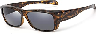 Fit Over Glasses Sunglasses with Polarized Lens for Women Men, Small Size