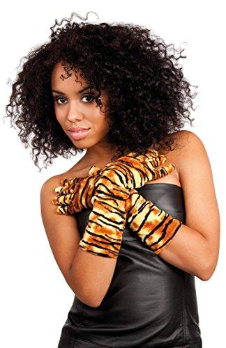 Boland 03122 - Handschuhe Tiger, Einheitsgröße, Mehrfarbig