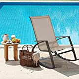 <span class='highlight'>Garden</span> Rocking Chair, High Back <span class='highlight'>Patio</span> Rocker Lounge Chair, <span class='highlight'>Indoor</span> <span class='highlight'>Outdoor</span> Leisure Swing Chair with Metal Steel Frame for Home <span class='highlight'>Patio</span> Balcony Poolside Backyard