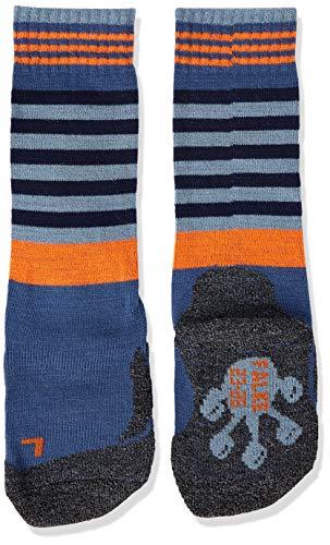 FALKE Kinder Socken Frog, Wollmischung, 1 Paar, Blau (Bluestone 6067), Größe: 23-26