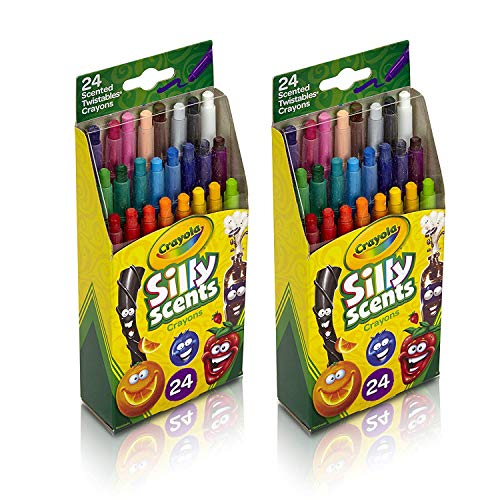 Silly Scents Twistables Crayons, 24 Classic Crayola Colors Non-Toxic Art Tools for Kids 3 & Up (2 Pack)