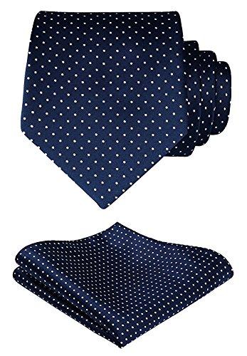 HISDERN Puntino Cravatta da sposa floreale Fazzoletto Cravatta da uomo? & Set tascabile