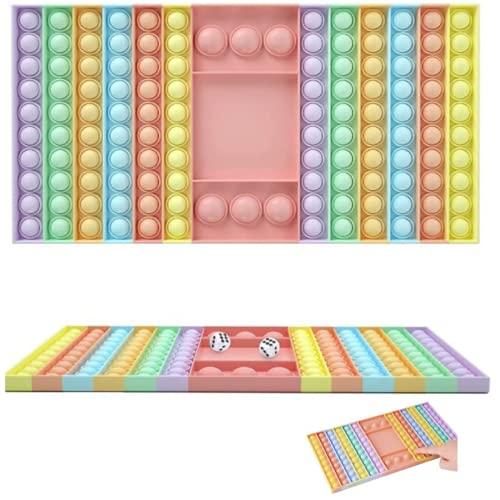 Mutualproducts Big Size Push Pop Fidget Toy Push pop Chess Board Bubble Fidget Sensory Toys Autism Stress Reliever…
